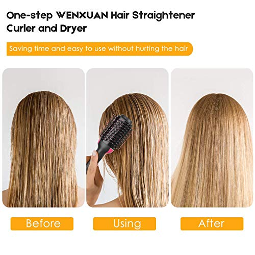 YJF Hot Air Brush One Step Hair Dryer & Volumizer 3-in-1 Electric Hair Blow Dryer & Styler Negative Ionic Salon Straightening Brush and Curly Hair Comb by YJF (Image #4)