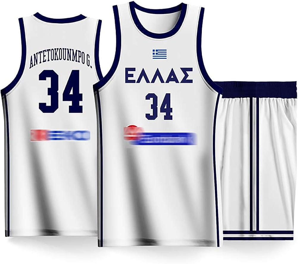 No.34 Grecia Team 2019 Fiba Basketball World Cup Conjunto de ...
