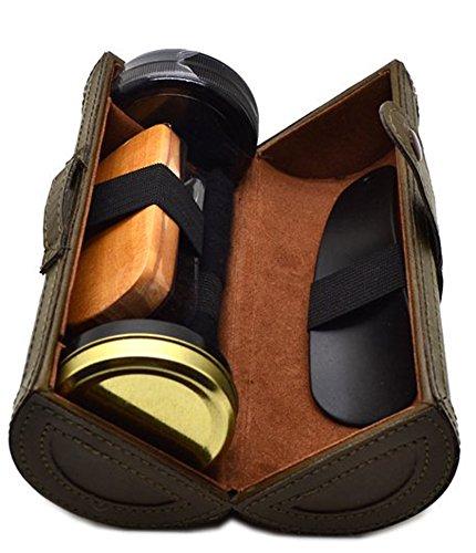 RICHY GLORY- Outdoor Travel Shoe Shine Care Wooden Polish ()
