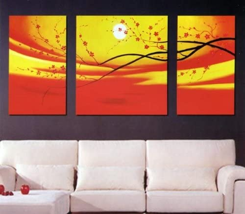 Asian Home Modern Abstract Art Oil Painting Stretched Ready to Hang OPB389