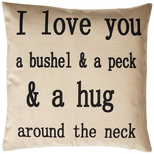 Generic I Love You a Bushel and a Peck Personalized Cotton Blend Linen Throw Pillow Cushion Covers, Beige, 18