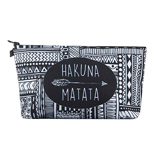 Irene Makeup Bag Cosmatic Beauty style Travel Ladies Irregular Pattern Design (Black) ()