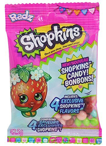Radz Brand Shopkins Assorted Candy, 42 g, (Pack of 18)