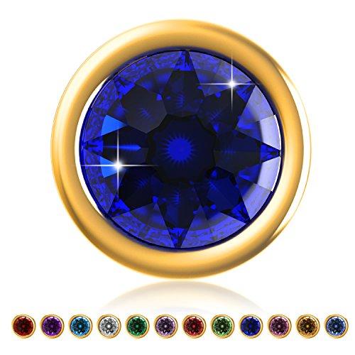 Desberry 12 pcs 4 mm SWAROVSKI Crystal Birthstone Charms for Living Memory Lockets,DIY Charms,Gift for Girls, - Crystal Charm Cell Phone Swarovski