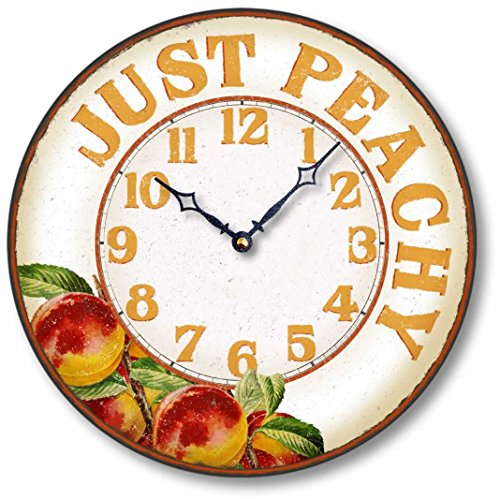 Item C8900 Vintage Style 12 Inch Peach Casual Kitchen Clock