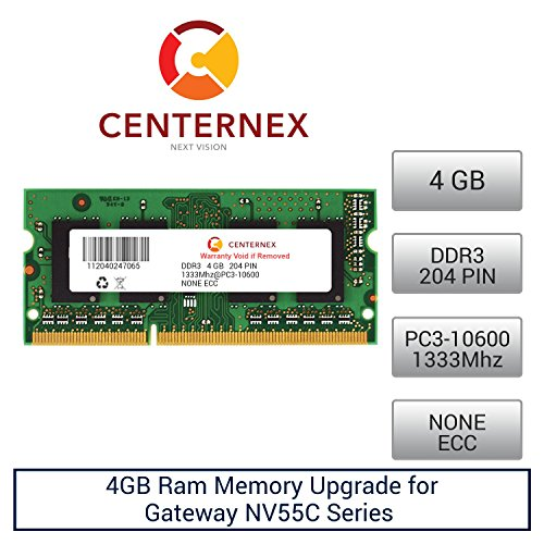 4GB RAM Memory for Gateway NV55C Series (DDR310600) Lapto...