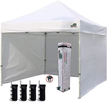 Eurmax 10'x10' Ez Pop-up Canopy Tent Commercial Instant Canopies