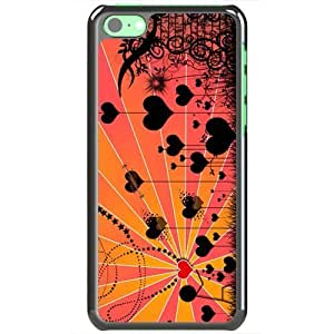 Magicly-Diy Apple iPhone 5C case cover EMO Love Love Falling Fyipeu67q10 In Love Normal Love Black