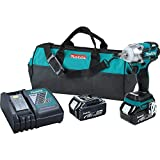 Makita XWT02M LXT Lithium Ion Brushless Cordless 3 Speed Impact Wrench Kit, 1/2-Inch (Discontinued by Manufacturer) For Sale