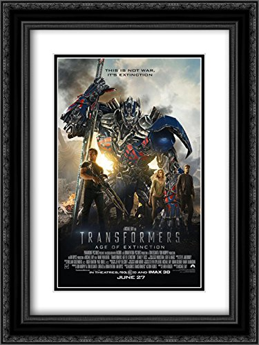 Transformers: Age of Extinction 18x24 Double Matted Black Ornate Framed Movie Poster Art Print ()