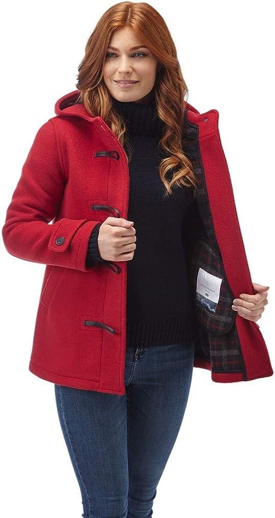 Original Montgomery Leyton Classic - Abrigo de Mujer con mordaza de Cuerno de búfalo, Color Rojo