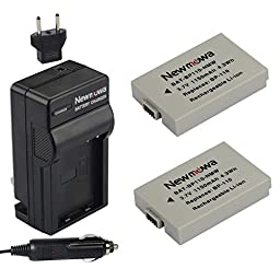 Newmowa BP-110 Battery (2-Pack) and Charger kit for Canon BP-110 and Canon VIXIA HF R20, HF R21, HF R200(Fully Decoded)