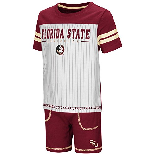 Colosseum FSU Florida State University Toddler Boy's Shorts and Baseball T-Shirt Set (3T)