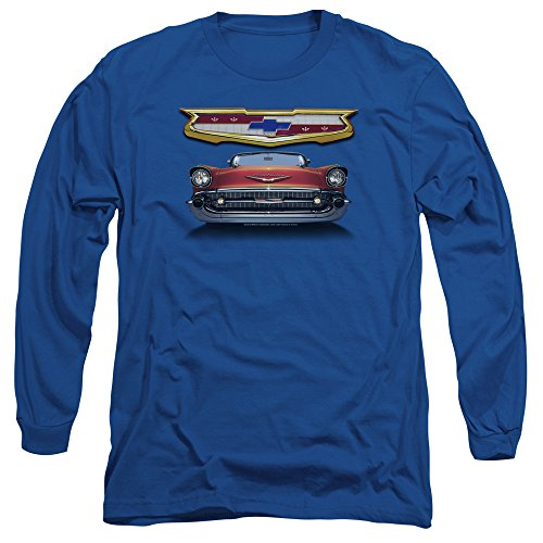 (Chevrolet Autos 1957 Chevy Bel Air Classic Car Grille Adult Long Sleeve)