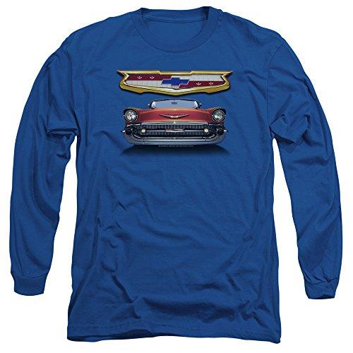 Chevrolet Autos 1957 Chevy Bel Air Classic Car Grille Adult Long Sleeve T-Shirt Bel Air Classic Car T-shirt
