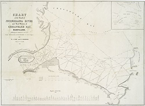 Historic 1836 Map | Chart of the mouth of Susquehanna River and head waters of Chesapeake Bay, Maryland | Chesapeake Bay (Md. and Va.) | Susquehanna River EstuaryMaps of North America. | (Mouth Chesapeake Bay)