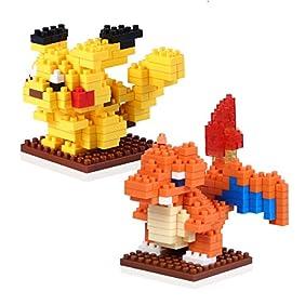 Kids Building Toy, Jakpak Pokemon Building Kit 2 Figures Miniature Diamond Blocks Pokemon Toys Parent Children's Educational Toys Toddler Intellectual Development Block Game Child Birthday Present
