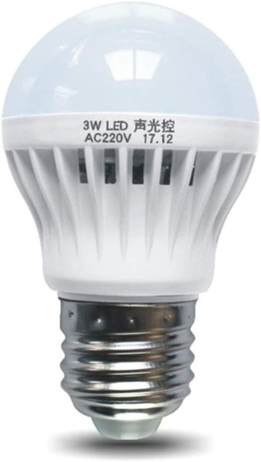 Funnyrunstore Sensor de control de sonido y luz Luz E27 Detector de movimiento Bombilla LED Lámpara Escalera Pasillo Pasillo Pasillo Iluminación nocturna Blanco: Amazon.es: Iluminación