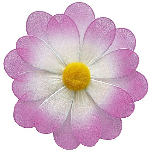 - The Butterfly Grove 3D Organza Nylon Mesh Hanna Flower Artificial Wall Hanging Decoration, Magenta Hibiscus, Small/5