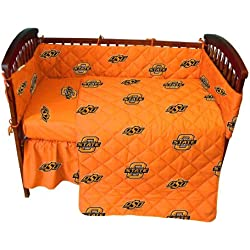 College Oklahoma State Cowboys Orange Crib Set