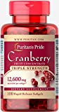 Puritan's Pride Triple Strength Cranberry Fruit Concentrate 12,600 mg-100 Softgels For Sale