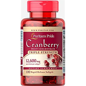 e29792a9 Puritan's Pride Triple Strength Cranberry Fruit Concentrate 12,600 mg-100  Softgels