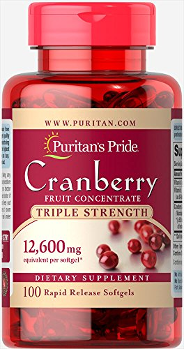 Puritan's Pride Triple Strength Cranberry Fruit Concentrate 12,600 mg-100 Softgels Review