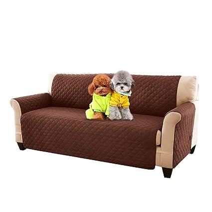 Fundas de sofá ajustable Reversible acolchado muebles sofá Slipcovers perro gato mascotas pantalla con correas elásticas