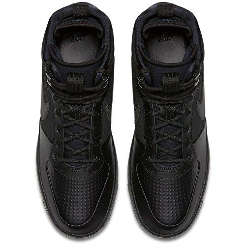 Winter Nike Herren Hautes Borough Court Mid Noir Homme black Baskets 4w7qwIr