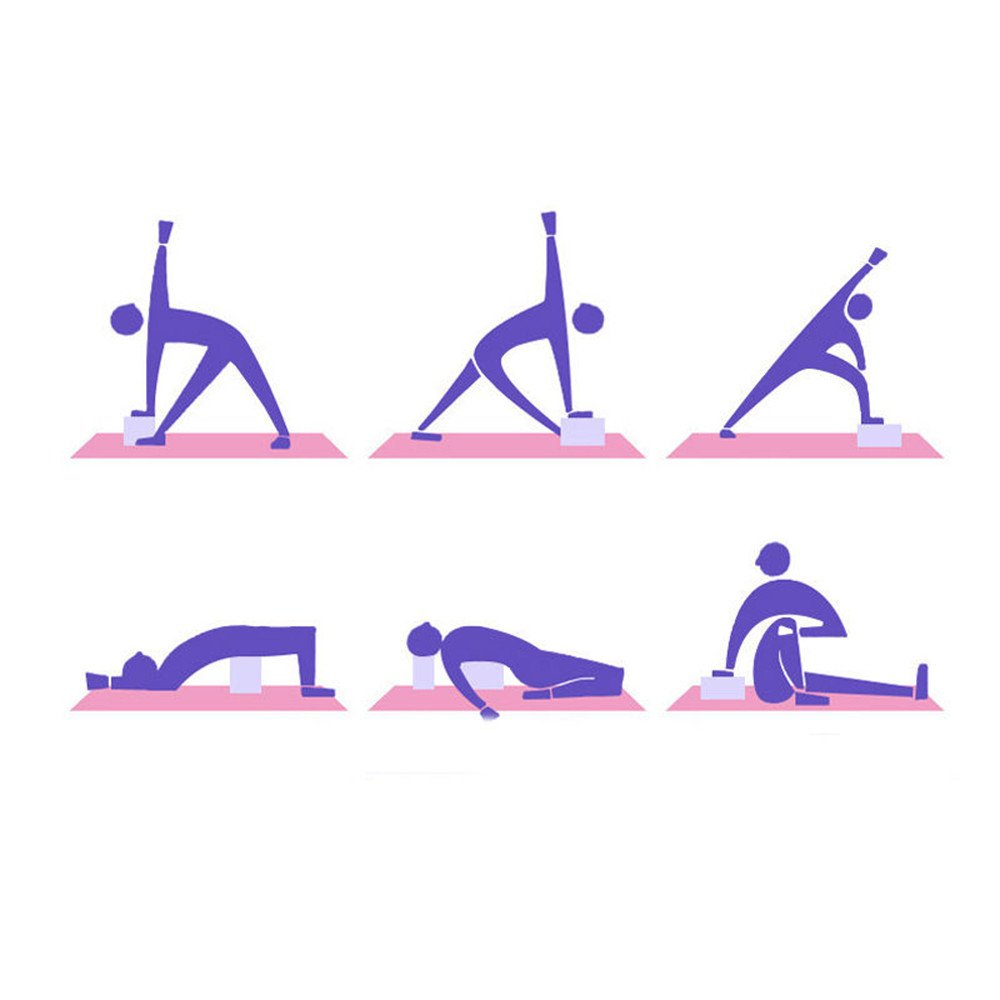 Eva-Training aiyvi Yoga-Blocks Workout Kissen Fitness-Schaumstoff-Kissen f/ür Fitnessstudio