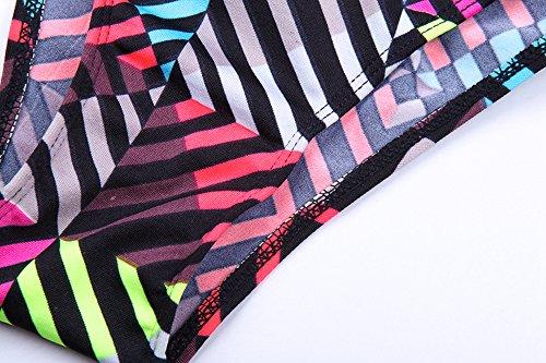 Bikini para las mujeres,Nuevo estilo de bikini colorido para la fiesta de la piscina arco iris