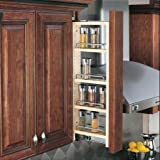 """Rev-A-Shelf 432-WF-3C 3"""" Wall Filler Pull-Out with Adjustable Shelves, Natural"""