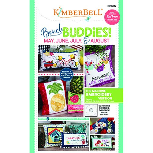 - Kimberbell Bench Buddy Series May - August Machine Embroidery CD Pattern