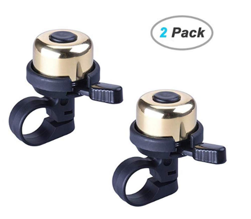 Haptern One-Touch Bike Bell Bicycle Bells Loud Crisp Clear Sound Alluminum Alloy Bike Bell for Tricycle Mountain Road Bike MTB BMX