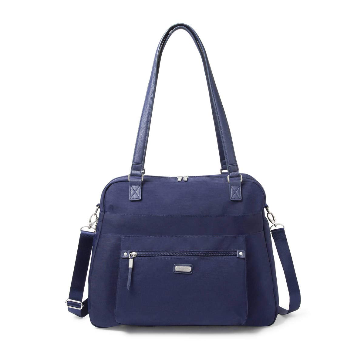 Baggallini Overnight Expandable Laptop Tote with RFID Phone Wristlet (Navy)