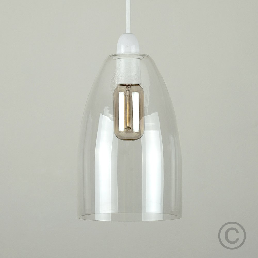 Modern clear glass ceiling pendant light shade amazon lighting aloadofball Image collections
