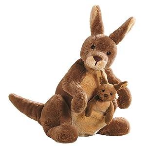 Amazon Com Gund Jirra Kangaroo Stuffed Animal Toy Toys