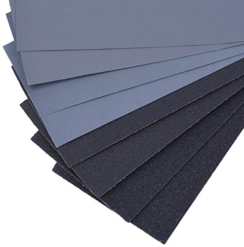 14 Pcs 120 to 3000 Grit Wet Dry Sandpaper Assortment 9 x 3.6 Inches for Auto Sanding