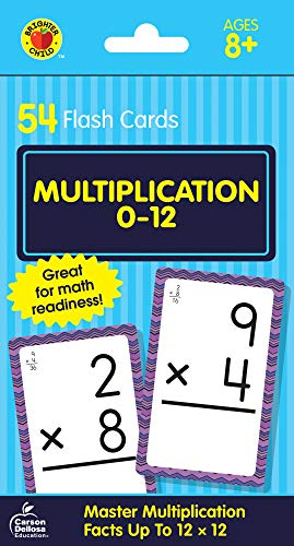 Carson Dellosa  Multiplication Flash Cards Select Factors Through 12 54ct