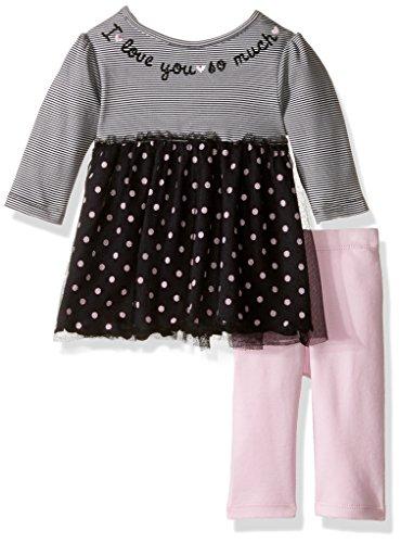 Ballet Tunic (David Tutera Apparel Baby Girls' Tunic Top and Legging Set, Ballet Dots, 0-3 Months)