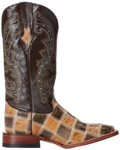 Ferrini Womens Patchwork 1 Western Boot Chocolate
