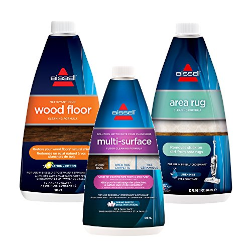Bissell Crosswave, Combo 3 Pack Multi-Surface, Wood Floor & Area Rug Formula