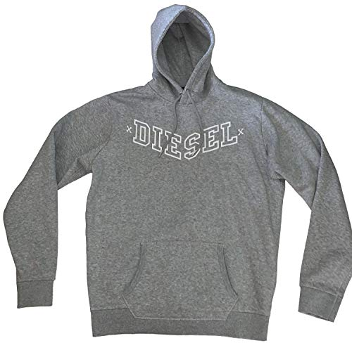 - Diesel Men's Pullover Agnes Patry Hoodie Sweatshirt (Light Grey, Medium)