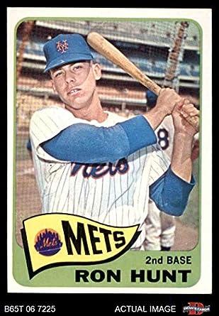 Amazoncom 1965 Topps 285 Ron Hunt New York Mets