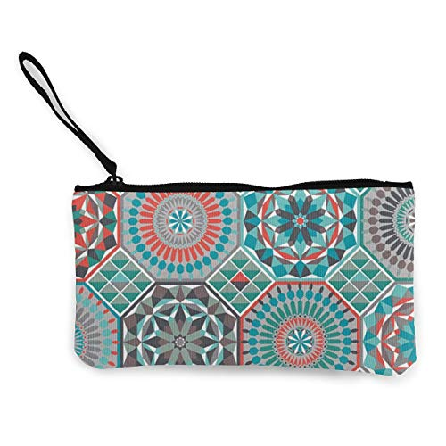 Contessa Mini - LianDiJiaChuang Contessa Coin Purse Zipper Change Pouch Mini Wallet Retro Canvas Coin Purse Zipper Pouch Wallet Make Up Bag Pencil Bag