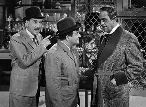 Karloff, Boris Abbott And Costello Meet Dr. Jekyll And Mr. Hyde T Shirt Iron On 8 x 10 Photo