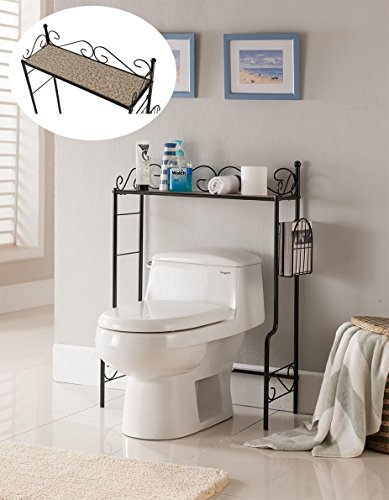 Kings Brand Etagere Freestanding Bathroom Shelf Storage Organizer Rack by Kings Brand Furniture