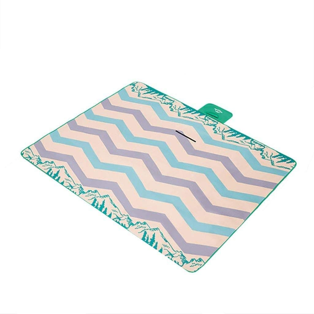 ZKKWLL Picnic Blanket Outdoor Picnic mat Portable Outdoor Travel Backpack Beach - Picnic mat Camping Carpet with Carrying Handle 2m 1.5m Beach mat by ZKKWLL
