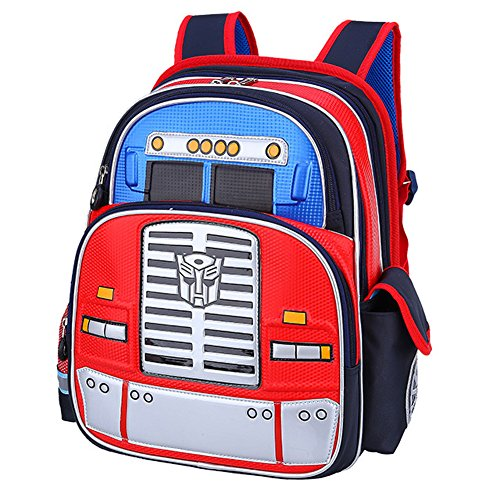 YOURNELO Boy's Cool Cartoon Transformers School Backpack Rucksack (A Blue)