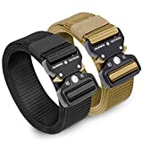 "Fairwin 2 Pack Tactical Belt for Men, 1,5"" Military"